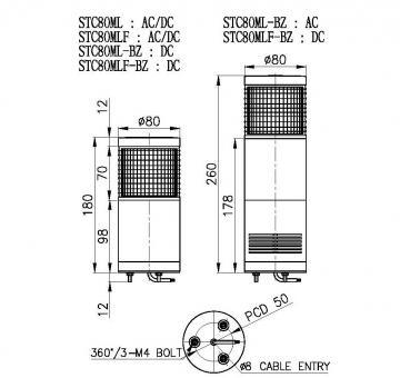 首页 供应 灯具 指示灯具 设备指示灯  stc80ml led 长亮型 stc80ml